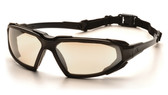 Pyramex Highlander Safety Glasses ~ Black Frame - Indoor Outdoor  Anti-Fog Lens