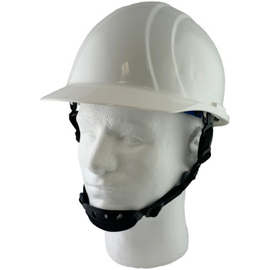 ERB Americana Cap Style Hard Hat with Ratchet Suspension and 4-Point Chinstrap - White pic 1