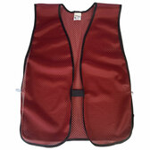 Cardinal Red Mesh Plain Safety Vest