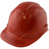 Pyramex Ridgeline Cap Style Hard Hats Red with Red Reflective Decals Applied
