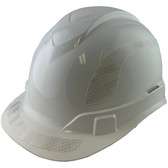 Pyramex Ridgeline Cap Style Hard Hats White with White Reflective Decals Applied