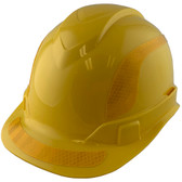 Pyramex Ridgeline Cap Style Hard Hats Yellow with Yellow Reflective Decals Applied