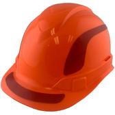 Pyramex Ridgeline Cap Style Hard Hats Orange with Red Reflective Decals Applied