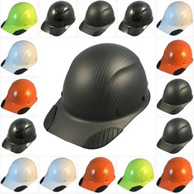 DAX Actual Carbon Fiber Hard Hat - Cap Style Hard Hats