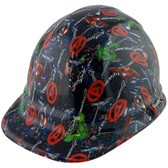 Avengers Design Cap Style Hydro Dipped Hard Hats ~ Oblique View