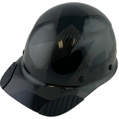 Actual Carbon Fiber Hard Hat - Cap Style Camo Black