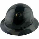 Actual Carbon Fiber Hard Hat - Full Brim Camo Black