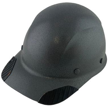 DAX Fiberglass Composite Hard Hat - Cap Style Textured Gunmetal Gray
