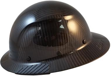 Actual Carbon Fiber Hard Hat - Full Brim Glossy Black