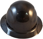 Actual Carbon Fiber Hard Hat - Full Brim Glossy Black