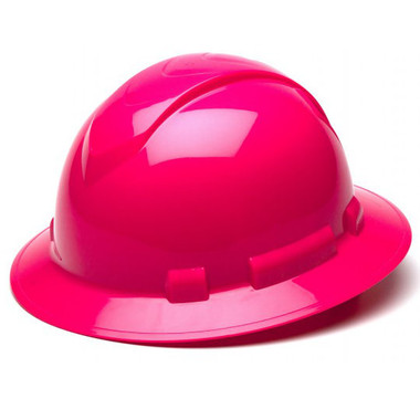 Pyramex 4 Point Full Brim Style with RATCHET Suspension Pink - Oblique View