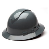 Pyramex Ridgeline Vented Slate Gray Full Brim Style Hard Hat - 4 Point Suspensions - Oblique View