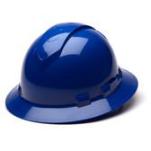 Pyramex Ridgeline Vented Blue Full Brim Style Hard Hat - 4 Point Suspensions - Oblique View
