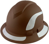 Pyramex Ridgeline Full Brim Style Hard Hat with Copper Pattern with White Decals - Oblique View