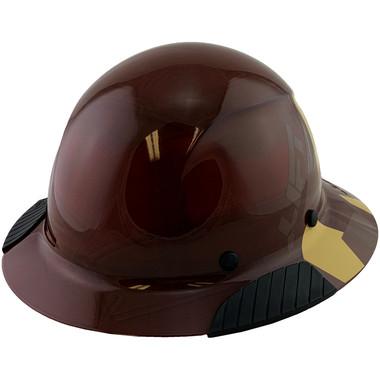 DAX Fiberglass Composite Hard Hat - Full Brim 5050 Desert Camo Natural Tan - Oblique View