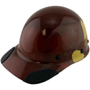 DAX Fiberglass Composite Hard Hat - Cap Style 5050 Desert Camo Natural Tan - Oblique View
