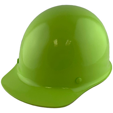 Skullgard Cap Style With Ratchet Suspension Lime Green - Oblique View