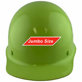 MSA Skullgard (LARGE SHELL) Cap Style Hard Hats with STAZ ON Suspension - Lime Green - Front View