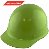 MSA Skullgard (LARGE SHELL) Cap Style Hard Hats with Ratchet Suspension - Lime Green - Oblique View