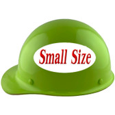 MSA Skullgard (SMALL SHELL) Cap Style Hard Hats with Ratchet Suspension - Lime Green - Left Side View