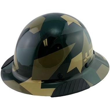 Actual Carbon Fiber Hard Hat - Full Brim Jungle Camo