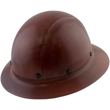 Dynamic Wofljaw Full Brim Fiberglass Hard Hat with 8 Point Ratchet Suspension - Natural Tan - Oblique View