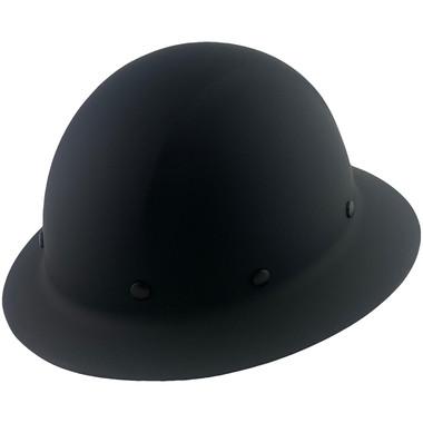 Dynamic Wofljaw Full Brim Fiberglass Hard Hat with 8 Point Ratchet Suspension - Black - Oblique View