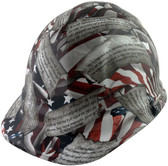 Second Amendment Cap Style Hydro Dipped Hard Hats ~ Front View
