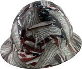 Second Amendment Full Brim Style Hydro Dipped Hard Hats-01 ~ Oblique View