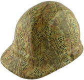 We the People Yellow Design Cap Style Hydro Dipped Hard Hats ~ Oblique View