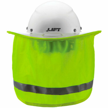 Lift Full Brim Hard Hat Sun Shade with Neck Shade - Hi-Viz Yellow (HDSF-20HV)