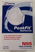 Gateway PeakFit Unvented N95 Respirator (20 per box), Part #80101 Pic 1