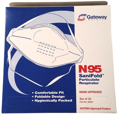 Gateway Sanifold Unvented N95 Particulate Respirator (20 per box), Part #80201 pic 2