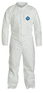 DuPont TYVEK Nonwoven Fiber Coveralls Standard Suit With Zipper Front