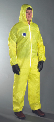 Posiwear Coveralls YELLOW w/ Hood, Boots, Ankles   pic 1
