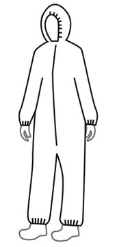 Promax SMS Coveralls w/ Hood, Elastic Wrists, Ankles   pic 1