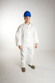 PE Coated Polypropylene Coveralls Standard Suits  pic 4