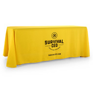 4-Sided Closed-Back Custom Printed Logo Tablecloth