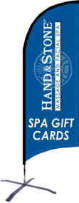 Hand and Stone Spa Gift Card Razor Flag