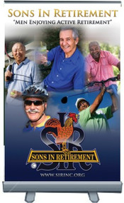 Sons In Retirement - 24x36 Tabletop Retractable Banner