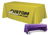 Custom Logo Tablecloths for Trade Shows