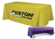 3 Sided Table Throw with Logo