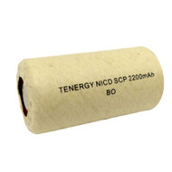 Tenergy 1.2V 2.2Ah NiCd Sub C Flat Top Rechargeable Batteries | Item # 20305