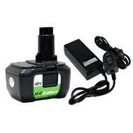 Replacement Lithium-ion Battery & Charger set for DeWALT 18V Battery