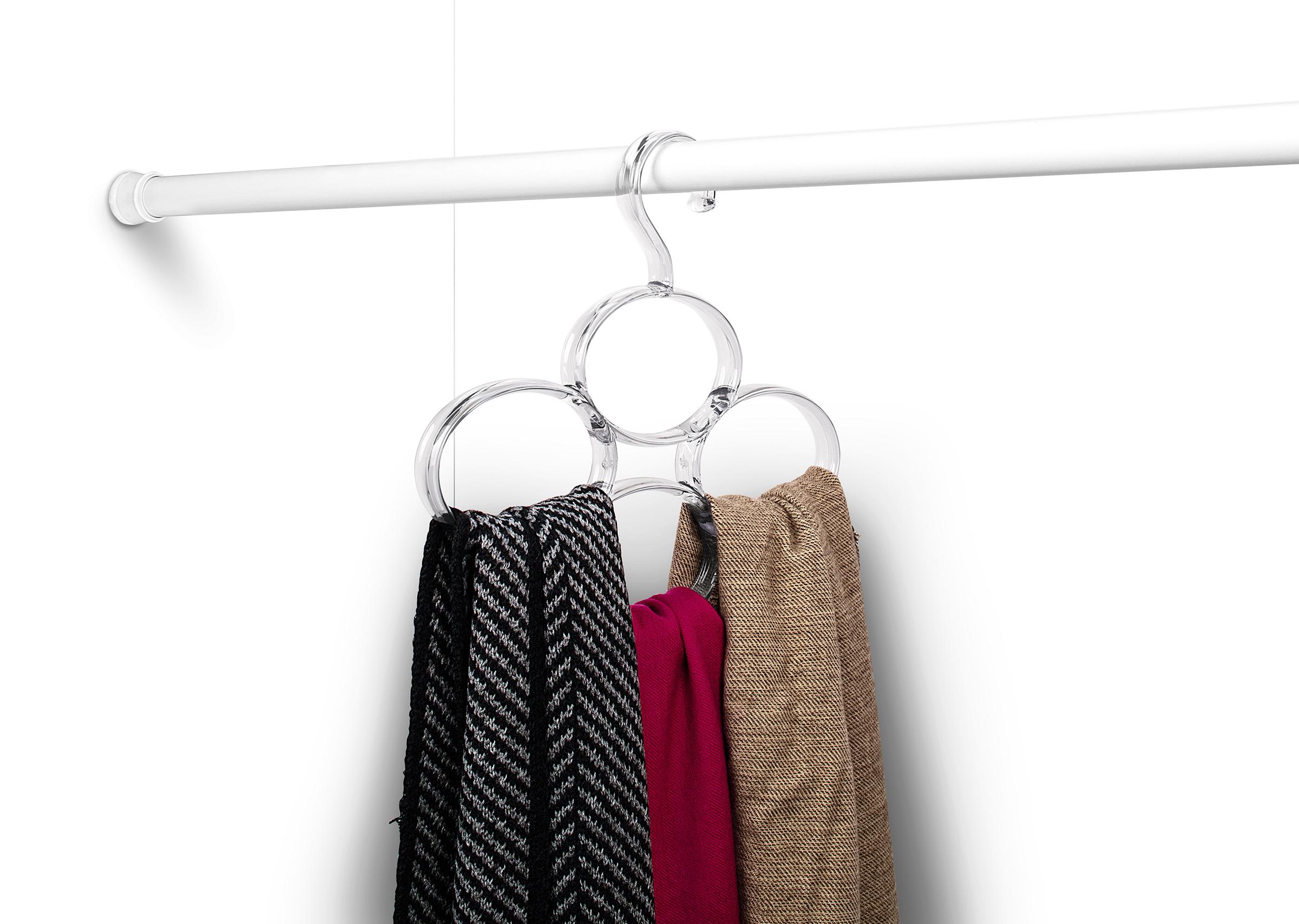 closet organization multi scarf hanger