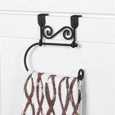 Scroll Over the Cabinet Towel Ring