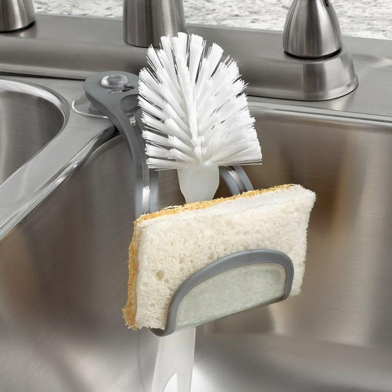 Spectrum Cora Arc Sink Sponge Holder Cradle in Grey