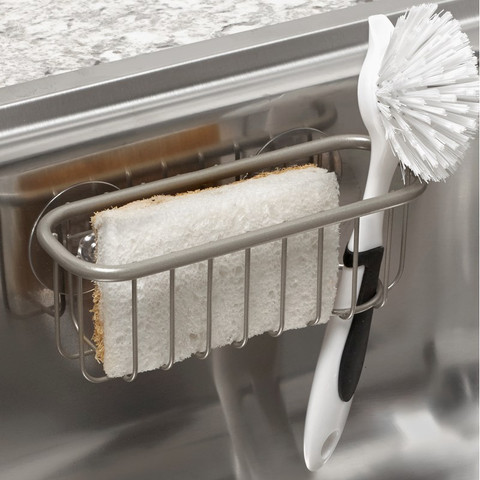 Euro Suction Sink Sponge & Brush Holder