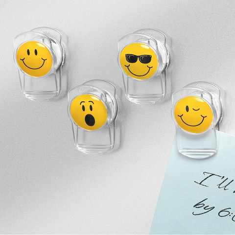 Smiley Face Magnetic Clips