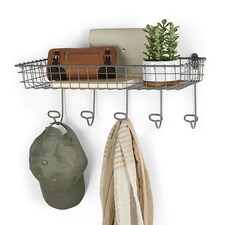 Vintage LivingÓ Wall Mount Tray & Hook Station